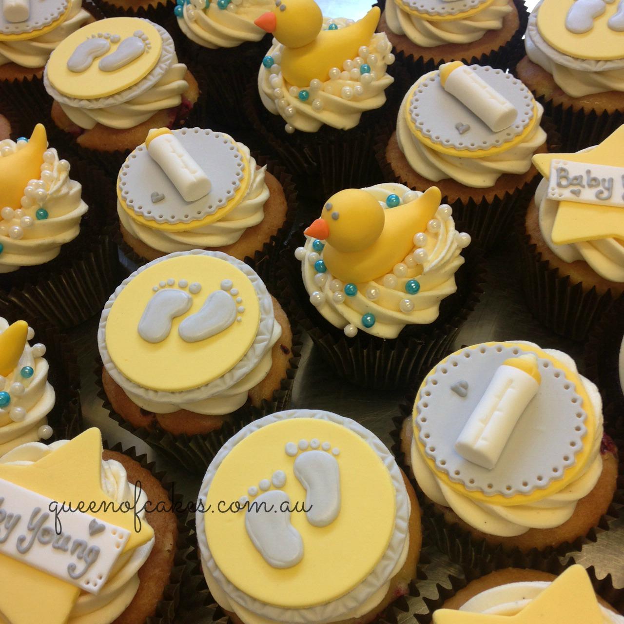 Yellow Cakes Baby Shower