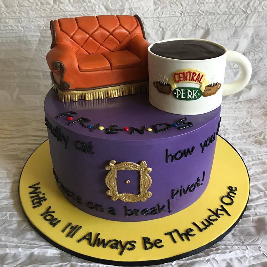 Friends cafe cake
